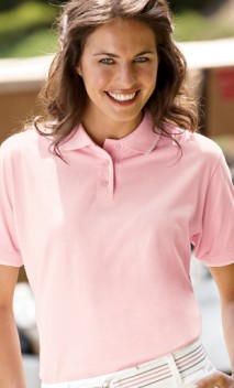 B368 Womens Cool-N-Dry Jersey Polo With Striped Trims