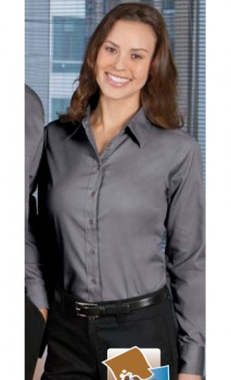 B493 Twill Long Sleeve Stain Release Womens