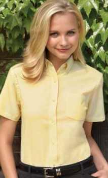 B496 Oxford Short Sleeve Ladies
