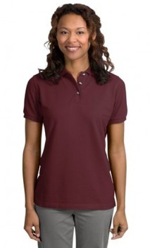 B465 Pique Knit Polo Womens