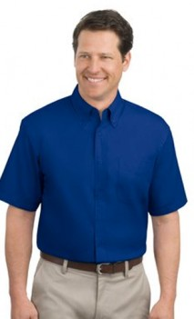 B453 Easy Care Twill Short Sleeve Mens