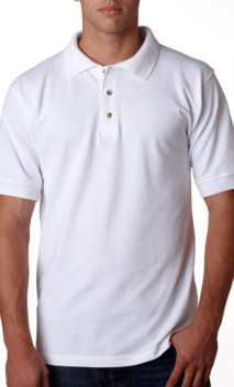 B569 Made in the USA 100% Cotton Pique Polo
