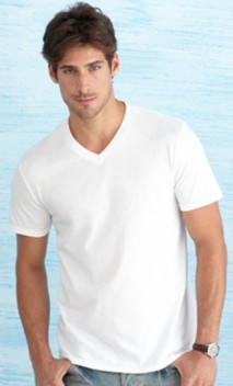 B580 4.5 oz Lightweight Soft V-Neck T-Shirts