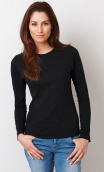 B583 Ladies' 4.5 oz. Lightweight Soft Junior Fit Long-Sleeve T-Shirts