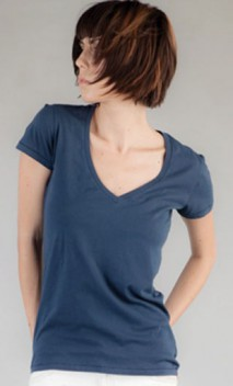 B593 Ladies' Short-Sleeve V-Necks