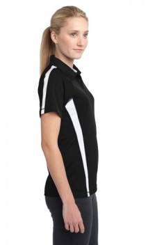 B667 Ladies PosiCharge Micro-Mesh Colorblock Polos