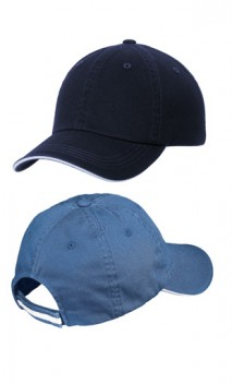 B690 Sandwich Bill Cap with Striped Closure