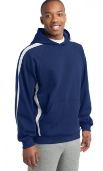 B701 Sleeve Stripe Pullover Hooded Sweatshirt