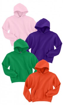 B176 50/50 Hooded Pullover Sweatshirts