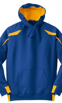 B703 Color-Spliced Pullover Hooded Sweatshirts