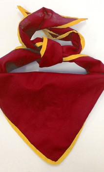 B848 Neckerchief with Color Edging