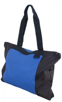 B480 Zippered Polyester Tote Bags