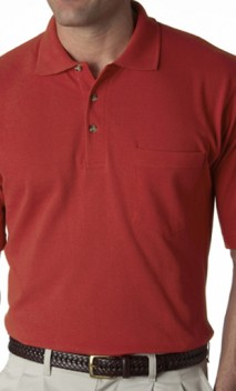 B439 Classic Pique Knit Polo with Pockets