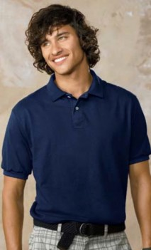 B504 Jersey Knit 50/50 Polo Mens