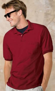 B505 Jersey Knit 50/50 Polo Mens with Pockets