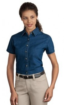 B461 Denim Short Sleeve Womens