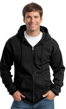 B479 Zip Hooded Sweatshirt  50/50 9oz Mens