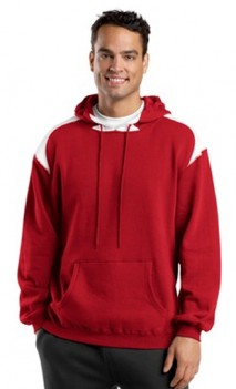 B483 Pullover Hooded Sweatshirt with Contrast Colors