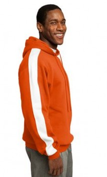 B484 Pullover Hooded Sweatshirt with Stripes