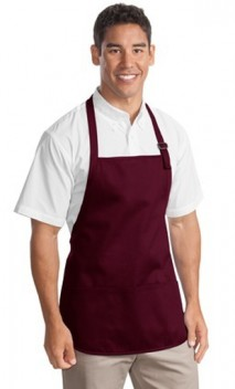 B539 Medium Length Apron with pockets