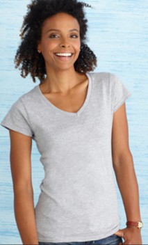 B581 Ladies 4.5 oz. Lightweight Soft Junior Fit V-Neck T-Shirt