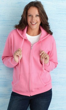 B586 Ladies' 8 oz. Heavy Blend 50/50 Full-Zip Hoodies