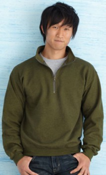 B587 8 oz. Heavy Blend™ Vintage Classic Quarter-Zip Cadet Collar Sweatshirts