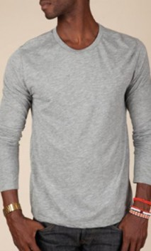 B591 Men's Long-Sleeve Basic Crews