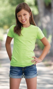 B631 Girls Longer Length T-Shirt