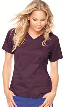 B633 Ladies CRS Jersey V-Neck Ts