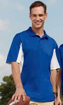 B644 Men's 3.8 oz. Side Blocked Micro Piqué Polo