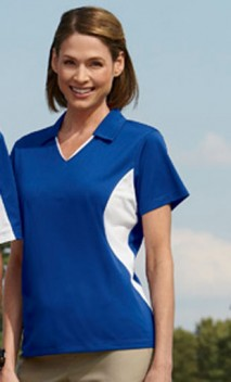 B647 Ladies' 3.8 oz. Side Blocked Micro Piqué Polos