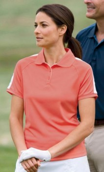 B638 Ladies' Dri-Fast™ Advantage™ Colorblock Mesh Polos