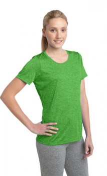 B696 Ladies' Heather Contender Scoop Neck Tees