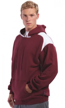 B702 Pullover Hooded Sweatshirt with Contrast Color