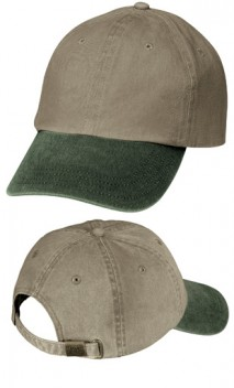 B240 Two-Tone Pigment-Dyed Caps