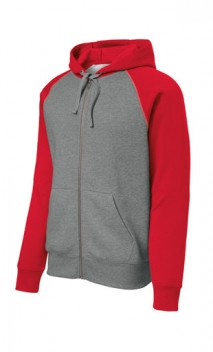 B989 Raglan Color block Full Zip Hoodies