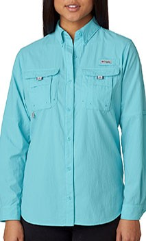 B995 Ladies Wicking Columbia Long Sleeve Fishing Shirts
