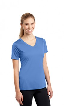 B1060 Ladies Wicking V-Neck Tees